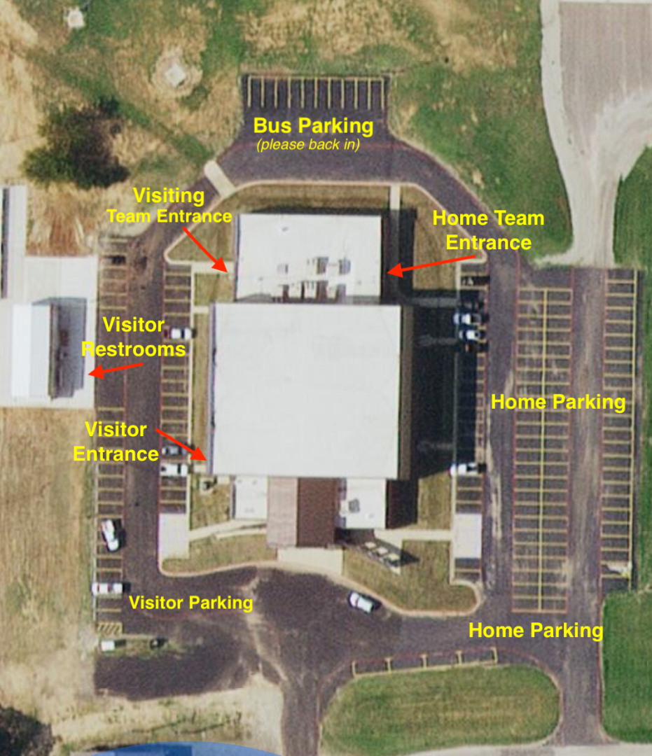 Map of Gym Parking
